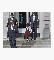 Ruby Bridges, escorted by U.S. Marshals to attend an all-white school, 1960 Photographic Print