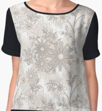 Delicate floral pattern in pastel colors. 1 Chiffon Top
