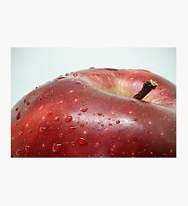 Part of a ripe red apple on a white background Photographic Print