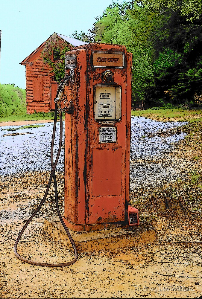 Lonely Gas Pump by Rodney Lee Williams