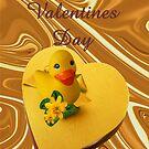 Yellow Ducky Valentine by CardLady