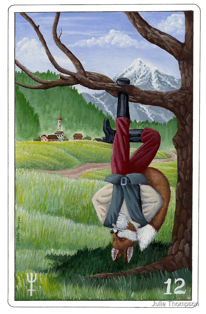 "Tarot - ""The Hanged Fox"" by Julie Thompson"