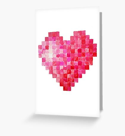 Valentine Heart - Watercolour Greeting Card