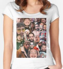 Post Malone Collage  Women's Fitted Scoop T-Shirt