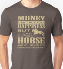 Top Selling Horse Riding Racing Equestrian Can't Buy You Happiness Z96 Unisex T-Shirt