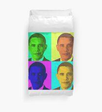 Barack Obama Pop Art Duvet Cover