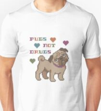 Take Pugs not Drugs Unisex T-Shirt