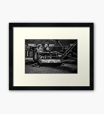 Children on Fairground - Blackburn a Town and Its People Framed Print