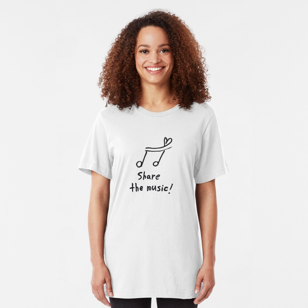 Share the music Slim Fit T-Shirt