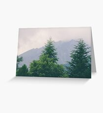 High Misty Mountain Greeting Card