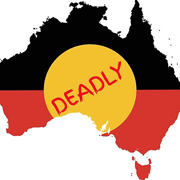 Australian Aboriginal Flag - Deadly by Taz-Clothing