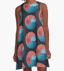 Sonne und Meer A-Linien Kleid