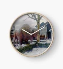 Wisent Sculpture Clock