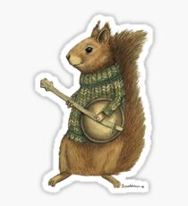 Squirrel with a banjo Sticker