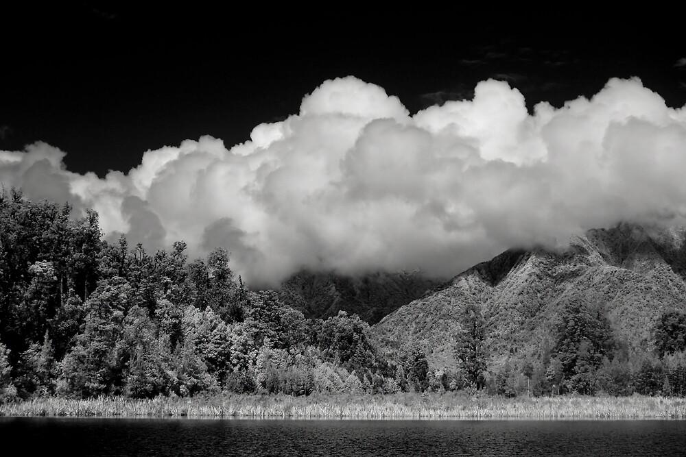 Clouds at Lake Matheson by Ian Robertson