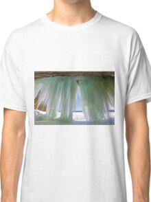 Ice Curtains on Grand Island near Munising Michigan Classic T-Shirt