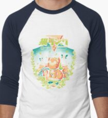 A Kitty to the past Men's Baseball ¾ T-Shirt