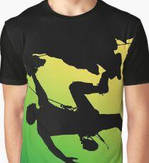 Silhouette man climbing mountain Graphic T-Shirt