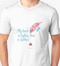 Mein Herz ist leichter als ein Feder T-Shirt Unisex T-Shirt