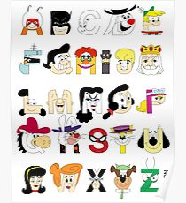 Child of the 60s Alphabet Poster