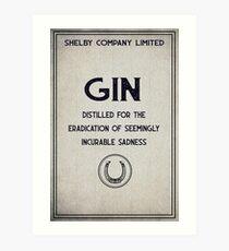 Shelby Company Gin Art Print