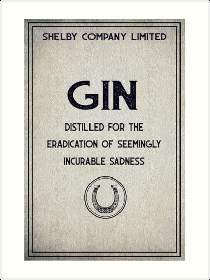 Shelby Company Gin by NiftyArt