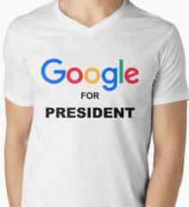 Google for President Men's V-Neck T-Shirt