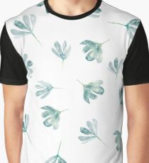 Watercolor blue flowers pattern Graphic T-Shirt