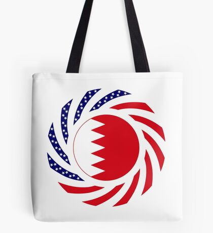 Bahrain American Multinational Patriot Flag Series Tote Bag