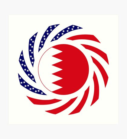 Bahrain American Multinational Patriot Flag Series Art Print