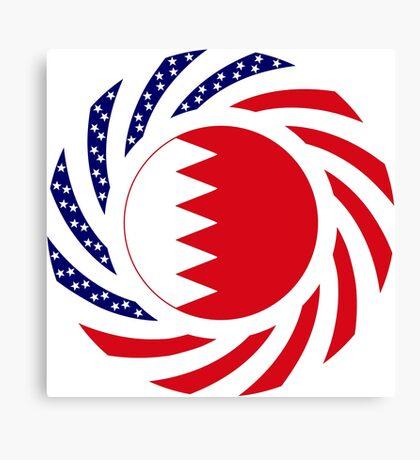 Bahrain American Multinational Patriot Flag Series Canvas Print