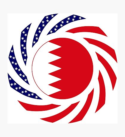 Bahrain American Multinational Patriot Flag Series Photographic Print