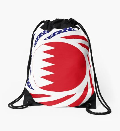 Bahrain American Multinational Patriot Flag Series Drawstring Bag