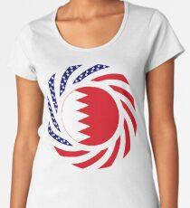 Bahrain American Multinational Patriot Flag Series Women's Premium T-Shirt