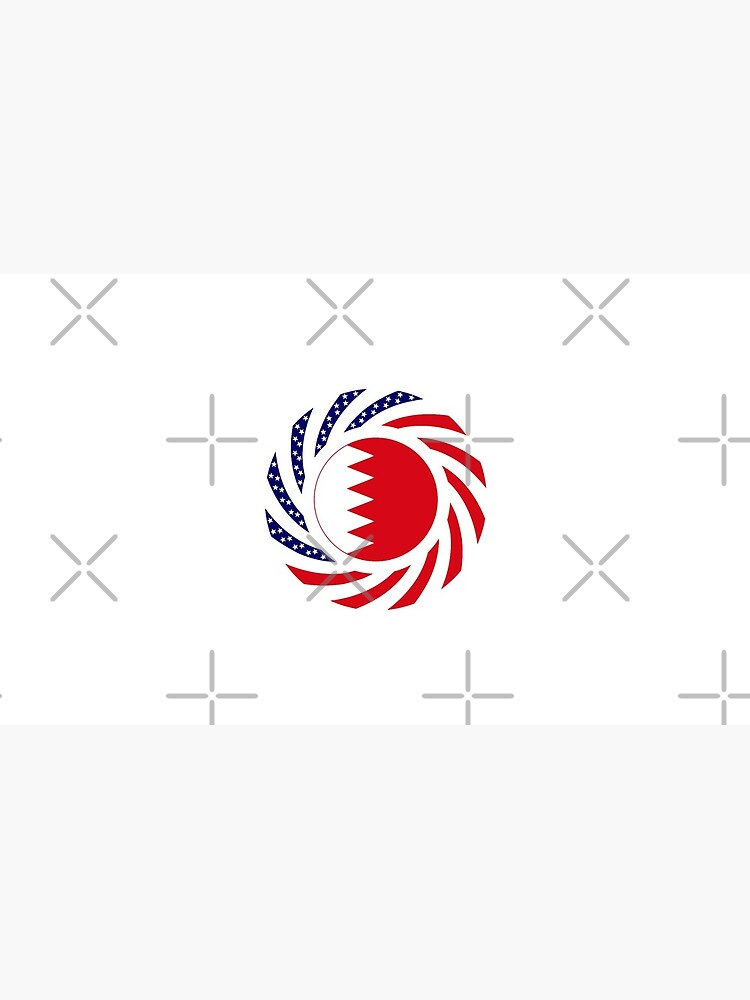Bahrain American Multinational Patriot Flag Series by carbonfibreme