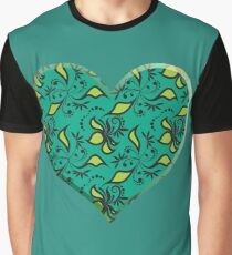 Colorful  Heart Graphic T-Shirt