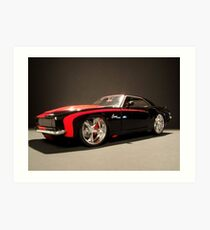 """68"" Pro Street Camaro RS Art Print"