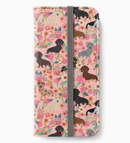Dachshund dog breed floral pure breed weener dogs doxie dachsie must have iPhone Wallet