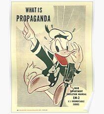 Donald Duck- Commando Propaganda WW2 Poster