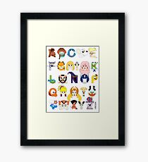 Child of the 80s Alphabet Framed Print