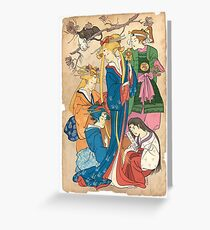 Sailor Moon Ukiyo E Greeting Card