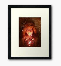 She held so many hopes and dreams, but there was only one she wanted to share Framed Print