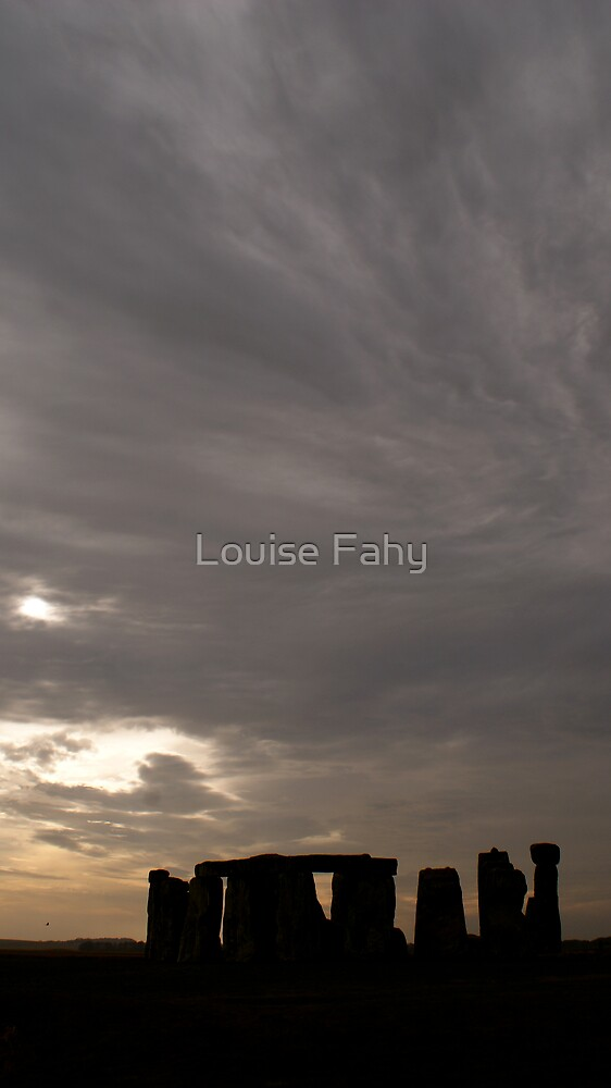 Stonehenge and Sky by Louise Fahy
