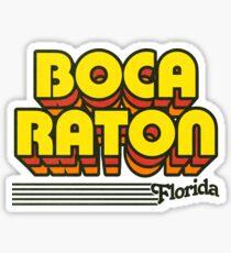 Boca Raton, Florida | Retro Stripes Sticker