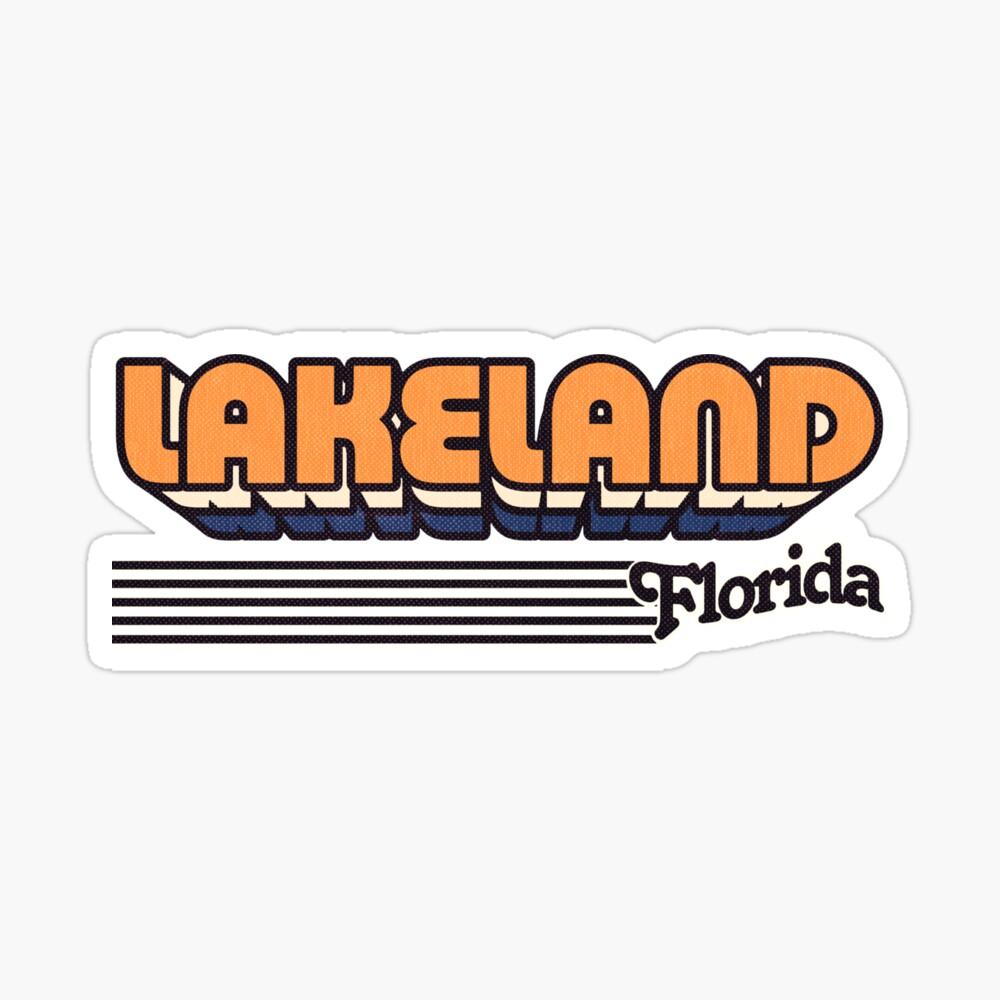 Lakeland, Florida | Retro Stripes Sticker
