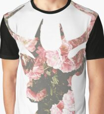 Floral buck Graphic T-Shirt