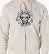 The Binding of Isaac, circle of characters Zipped Hoodie