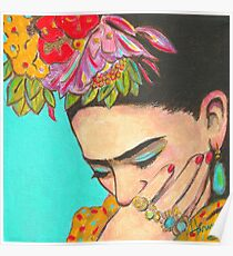 Frida denkt nach Poster