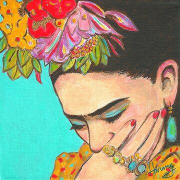 Frida Thinks by karenharingart