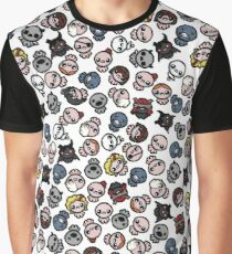 The Binding of Isaac characters pattern + Graphic T-Shirt